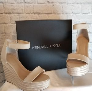 Kendall + Kylie Grady Espadrille Wedge Shoes 10M